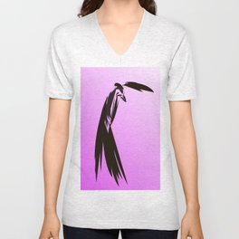 Geral turns to meet the hawk Unisex V-Neck
