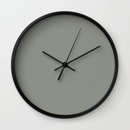 Solid Neutral Pastel Color Olive Wall Clock