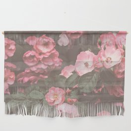 Pink Flowers in the Morning Wall Hanging