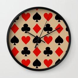 Card Suits // Tan Wall Clock
