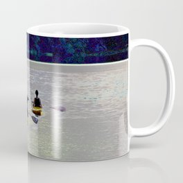 Twilight Kayaking Beach Lake, PA Coffee Mug