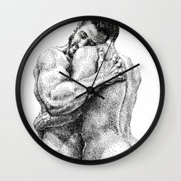The Lovers - NOODDOODs Wall Clock