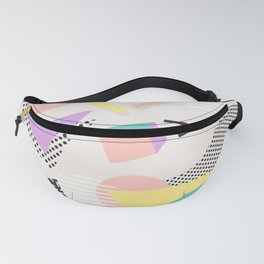 80s / 90s RETRO ABSTRACT PASTEL SHAPE PATTERN Fanny Pack