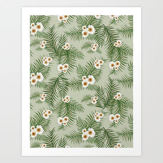 Vintage Jungle Pattern #society6 #decor #buyart Art Print