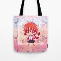 chibi Tote Bags featuring Chibi Hikaru by Neo Crystal Tokyo