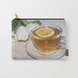 A cup of tea in a circle of friends, a warm atmosphere Carry-All Pouch