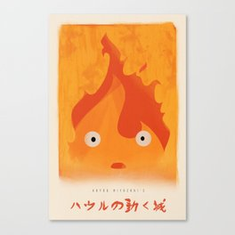 Howl's Moving Castle - Calcifer Print, Miyazaki, Studio Ghibli Canvas Print