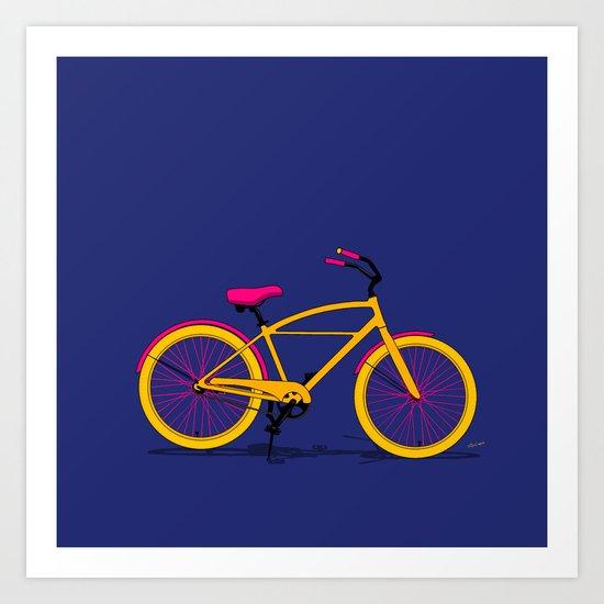 Happy Bike Art Print