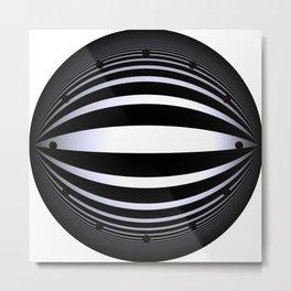 clock face -166- Metal Print