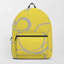 Funky Ring Pattern V16 Pantone's 2021 Color of the year Illuminating Yellow and Lead Crystal Backpack