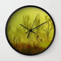 fairies Wall Clocks featuring Fairies Nebula by Stephanie Koehl