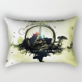 Paris Saint Germain Digital Artwork Rectangular Pillow