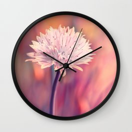 Chive blossom Wall Clock