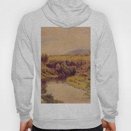Hans Gude Painting -  Andelven Eidsvold 1853    Reproduction   Norwegian Art Hoody
