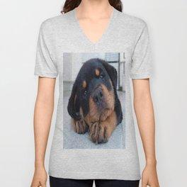Riley  🐾  The Rottweiler Puppy  🐾 Unisex V-Neck