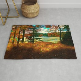 Trees and Shadows in New England Rug