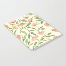 Watercolor Botanical Pattern Notebook