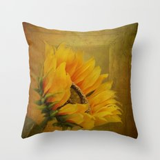 Sunflower Magic Throw Pillow