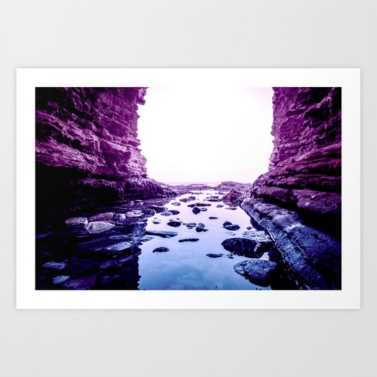 Purple Blue Lagoon Art Print