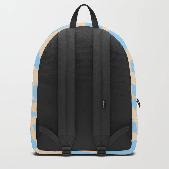 Sweet Life Triangle Dots Orange Sherbet + Blue Raspberry Backpack