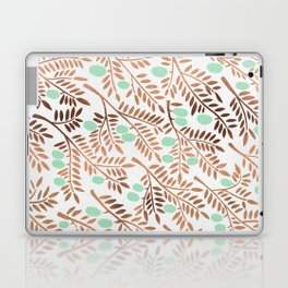 Olive Branches – Rose Gold & Mint Laptop & iPad Skin