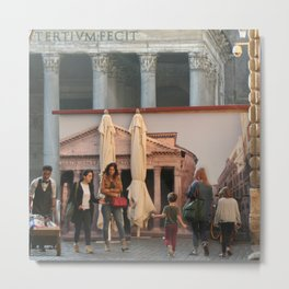 Pantheon of Rome Locals's View Metal Print