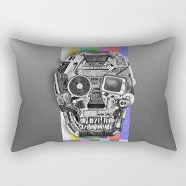 retro tech skull 3 Rectangular Pillow