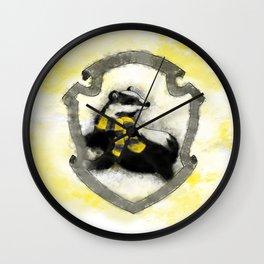 Hufflepuff Splatter Wall Clock