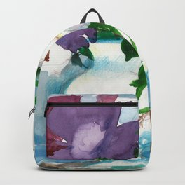 Flowers. Watercolor Bouquet Backpack