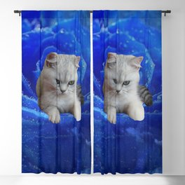 Cat and Rose Blackout Curtain