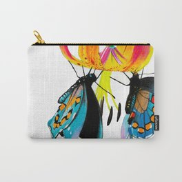 Butterflies & Lily Carry-All Pouch