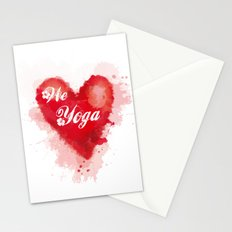 We Love Yoga Stationery Cards