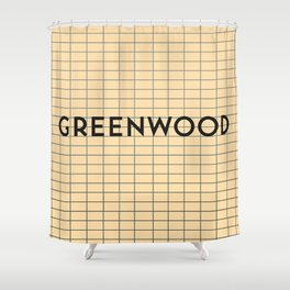 GREENWOOD | Subway Station Shower Curtain