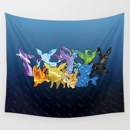 """The Dream Team"" - X & Y Eeveelutions Wall Tapestry"