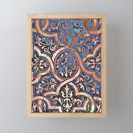 Desert and Blue Filigree Framed Mini Art Print