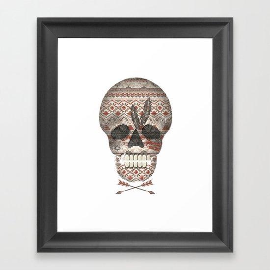 SKULL & ARROW  Framed Art Print
