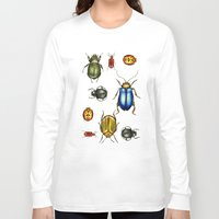 bugs Long Sleeve T-shirts featuring Bugs by Megan Campbell Illustrator