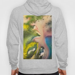 River watercolor abstraction painting Hoody