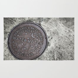 New Orleans Watermeter in Color Rug