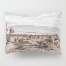 Vintage Desert Hombre // Cactus Cowboy Mojave Landscape Photograph Sunshine Hippie Mountain Decor Pillow Sham