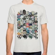 The Library of Babel Silver Mens Fitted Tee SMALL