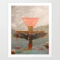 Persecution of Raven Art Print