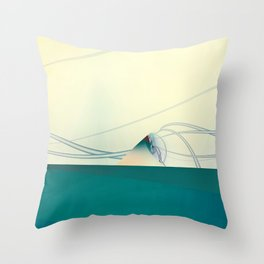 A Day of Sail Boat Racing Throw Pillow