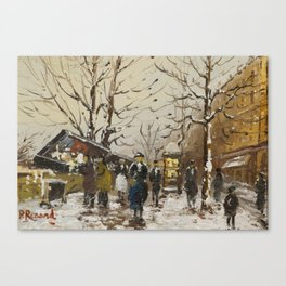 Paul Renard(French, 1871-1920)Paris Street Scenes Canvas Print