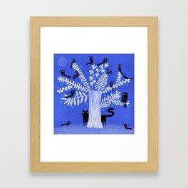 BLACK FLOCK Framed Art Print