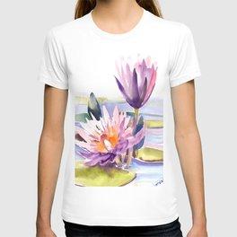 Water Lily,  Lotus T-shirt