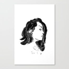 lady galoctopus Canvas Print