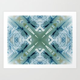 Into the Forest (Green) Art Print