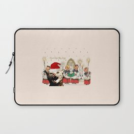 Cat singing Christmas carol Silent Night Laptop Sleeve