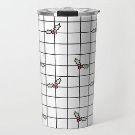 Holly Grid Travel Mug